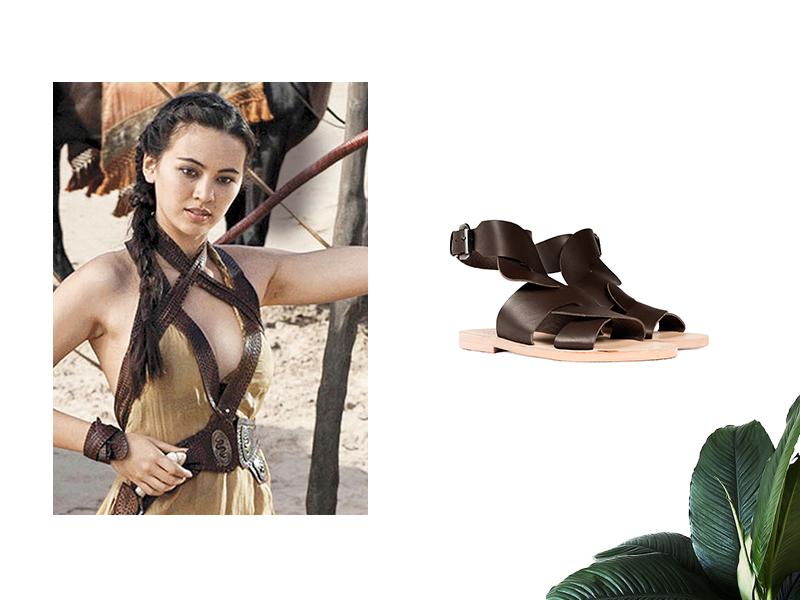 Nymeria, hija de Oberyn Martell, con nuestra Sandalia Griega Lucila