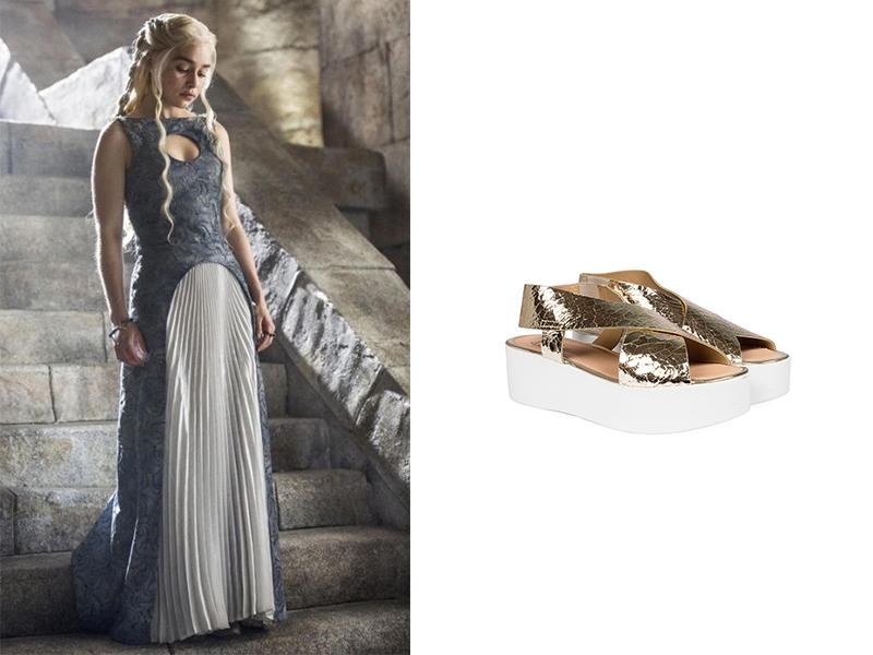 Daenerys Targaryen con nuestra Sandalia Dorada Cruzada