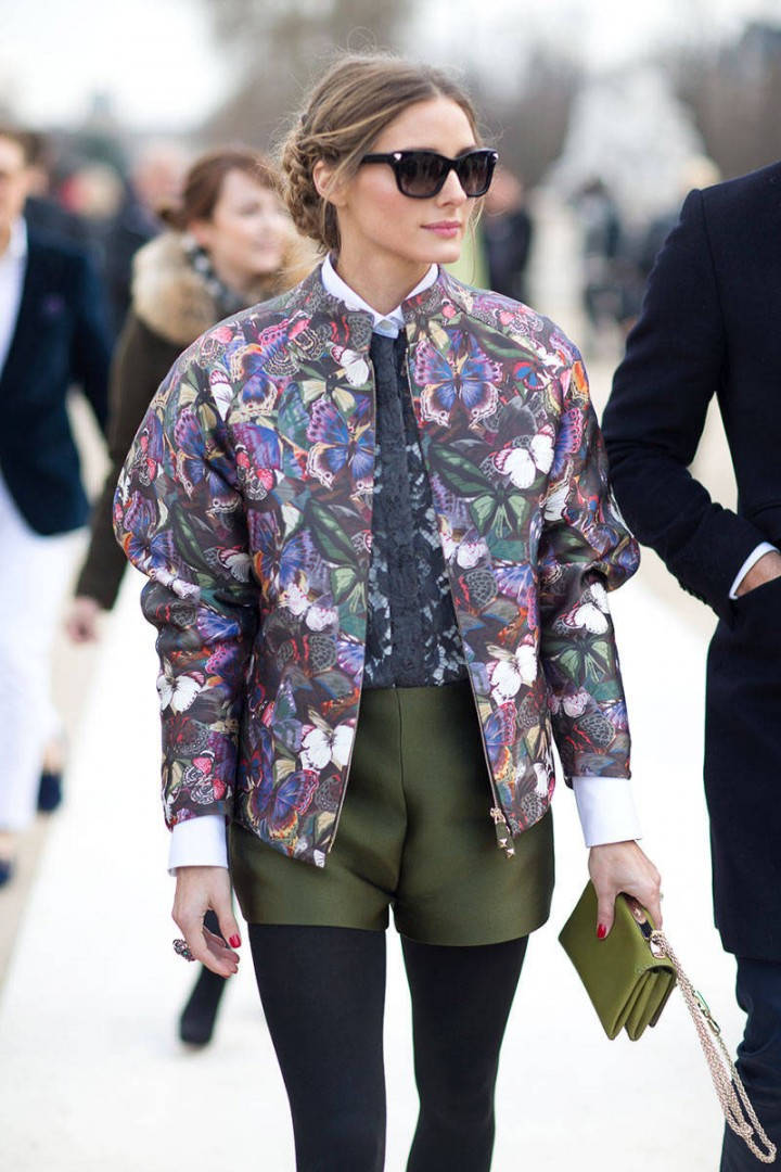 Olivia Palermo Celebrity Street Style: The Bomber Jacket Beauty Banter