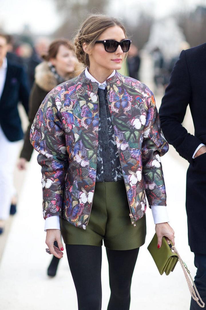 Olivia Palermo Celebrity Street Style: The Bomber Jacket Beauty Banter