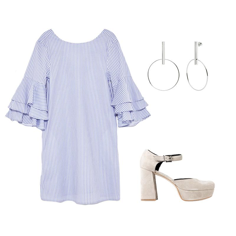Salón Ante Ginger de un Paso Más Studio Silver Pendientes de Un Paso Más x PdPaola Vestido de Zara