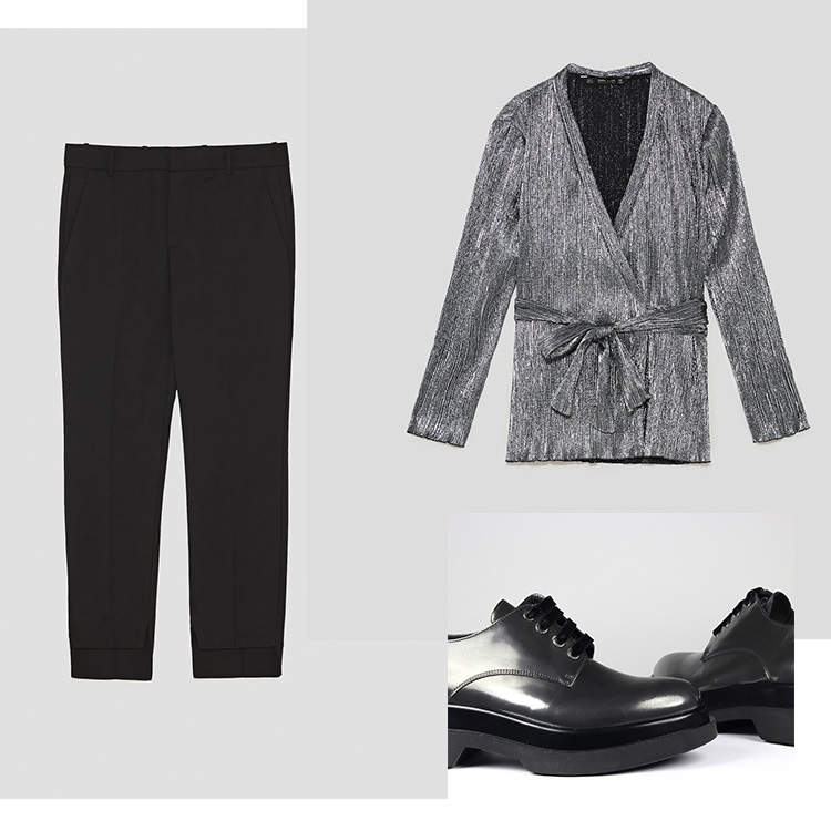 Blucher Nancy Velvet: Un Paso Más Pantalón y blusa: ZARA