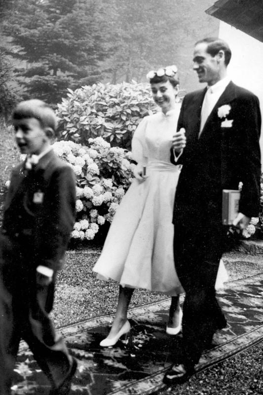 Audrey Hepburn en 1954, con Mel Ferrer